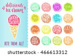 delicious ice cream with... | Shutterstock .eps vector #466613312