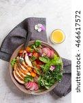 spring salad with vegetables ...   Shutterstock . vector #466617572