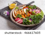 spring salad with vegetables ... | Shutterstock . vector #466617605