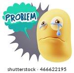 3d illustration sad character...   Shutterstock . vector #466622195