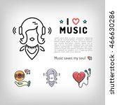 music player isolated icon ...   Shutterstock .eps vector #466630286