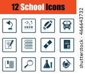 school icon set. shadow...