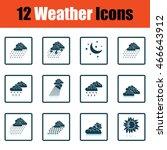 set of weather icons. flat...