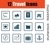 travel icon set.  shadow...