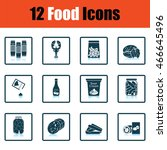 set of food icons. shadow... | Shutterstock .eps vector #466645496