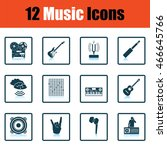 set of musical icons. shadow...   Shutterstock .eps vector #466645766