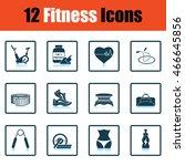 fitness icon set. shadow...