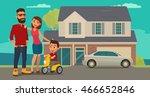 family. parents  grandparents... | Shutterstock .eps vector #466652846