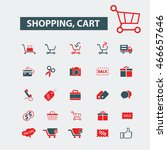 shopping cart icons | Shutterstock .eps vector #466657646