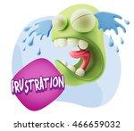 3d illustration sad character...   Shutterstock . vector #466659032