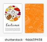 editable card templates with... | Shutterstock .eps vector #466659458