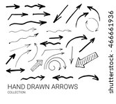 hand drawn arrows made in... | Shutterstock .eps vector #466661936