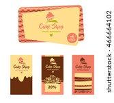 cake and sweet shop logo.... | Shutterstock .eps vector #466664102