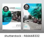 blue circle cover business... | Shutterstock .eps vector #466668332