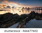 beautiful sunrise over the sea...   Shutterstock . vector #466677602