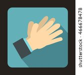 clapping applauding hands icon... | Shutterstock . vector #466678478