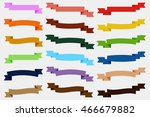 set of  colorful empty ribbons... | Shutterstock .eps vector #466679882