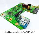 close up pcb board circuit and... | Shutterstock . vector #466686542