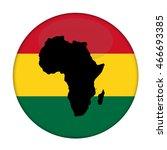 continent of africa flag button ... | Shutterstock . vector #466693385