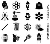 simple apiary icons set....