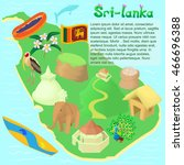 cartoon sri lanka map.... | Shutterstock .eps vector #466696388