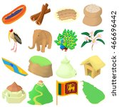 cartoon sri lanka icons set....
