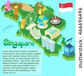cartoon singapore map....   Shutterstock .eps vector #466696496