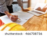 architect drawing architectural ... | Shutterstock . vector #466708736