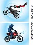 jumping motorcyclist   vector...   Shutterstock .eps vector #46671019
