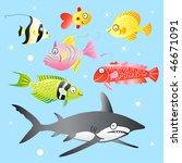 marine fish | Shutterstock .eps vector #46671091
