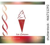 ice cream vector icon | Shutterstock .eps vector #466711292