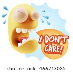 3d illustration sad character... | Shutterstock . vector #466713035