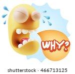 3d illustration sad character... | Shutterstock . vector #466713125