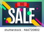 Big sale banner color design. Vector illustration template - stock vector