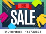 Big clothes sale banner color design. Vector illustration template - stock vector