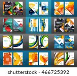 set of a4 size annual report... | Shutterstock .eps vector #466725392