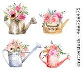 garden watering cans....   Shutterstock . vector #466726475