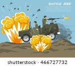 legendary us army four wheel... | Shutterstock .eps vector #466727732