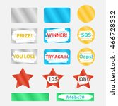 colored icons scrape and win... | Shutterstock .eps vector #466728332