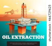 offshore platform oil rig to... | Shutterstock .eps vector #466729625