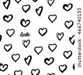 seamless background hearts.... | Shutterstock . vector #466740155