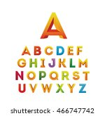 set of colorful alphabet | Shutterstock .eps vector #466747742