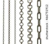 3d rendering gold chain... | Shutterstock . vector #466751912