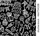 happy birthday lettering and... | Shutterstock .eps vector #466754108