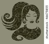 vector grunge illustration of a ... | Shutterstock .eps vector #46675855
