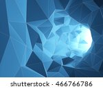abstract tunnel from geometric... | Shutterstock . vector #466766786