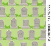 old gravestone ornament. tomb... | Shutterstock .eps vector #466767722