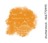 indian independence day concept ... | Shutterstock .eps vector #466770995