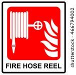 vector fire hose reel sign | Shutterstock .eps vector #466794002
