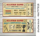 baseball competitions tickets... | Shutterstock .eps vector #466797818